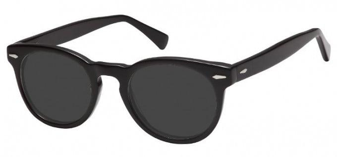 Sunglasses in Black/Clear Grey