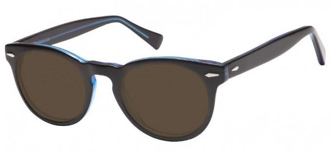 Sunglasses in Black/Clear Blue