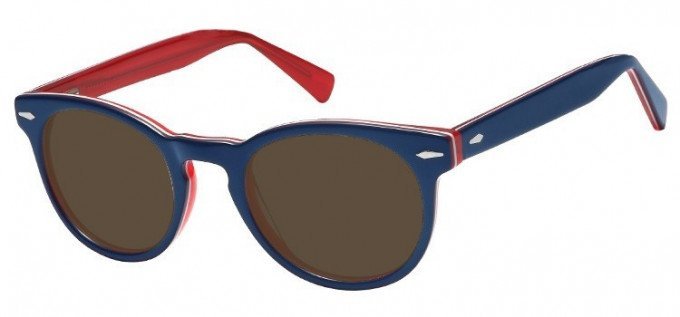 Sunglasses in Blue/Clear Red