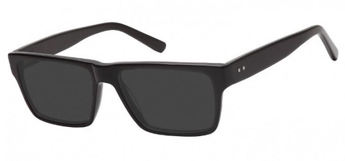 Sunglasses in Black/Green