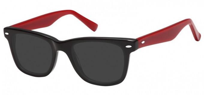 Sunglasses in Black/Burgundy