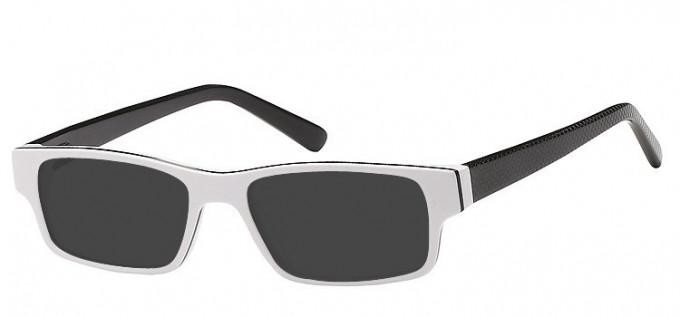 Sunglasses in White/Black