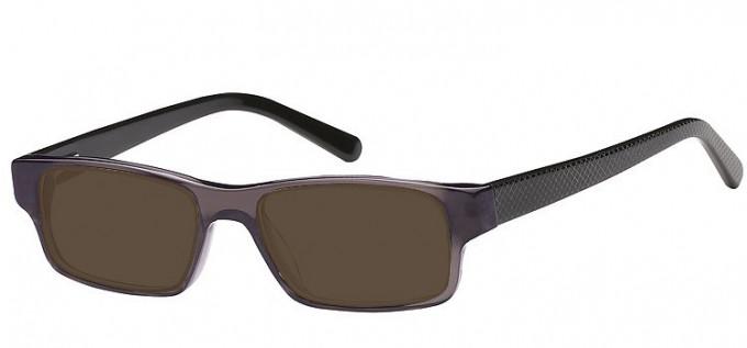 Sunglasses in Clear Grey/Black