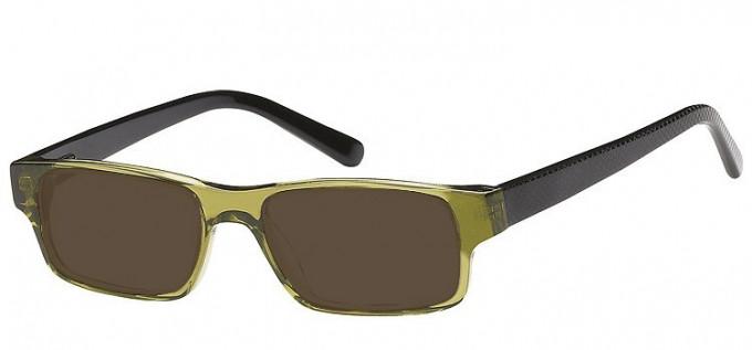 Sunglasses in Clear Green/Black