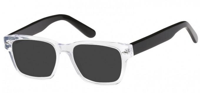 Sunglasses in Crystal/Black