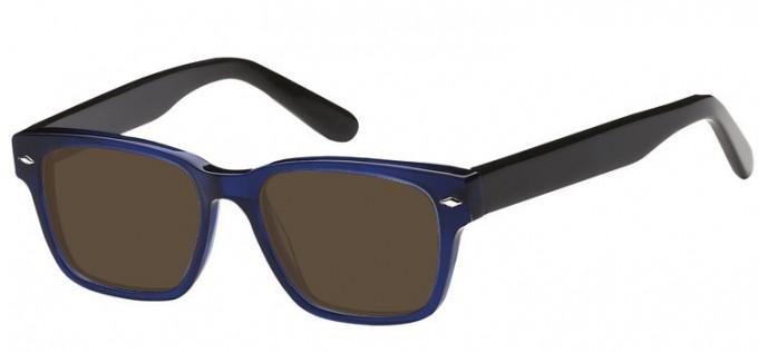 Sunglasses in Clear Blue/Black