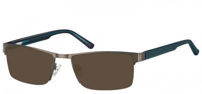 Sunglasses in Dark Gunmetal/Green