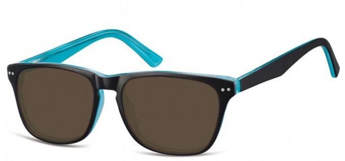 Sunglasses in Black/Turquoise