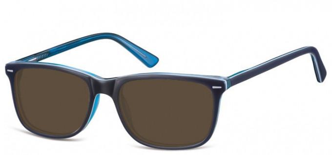 Sunglasses in Blue/Transparent Blue