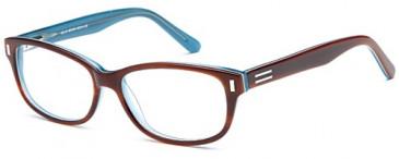 SFE reading glasses in Brown