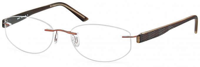 SFE reading glasses in Brown