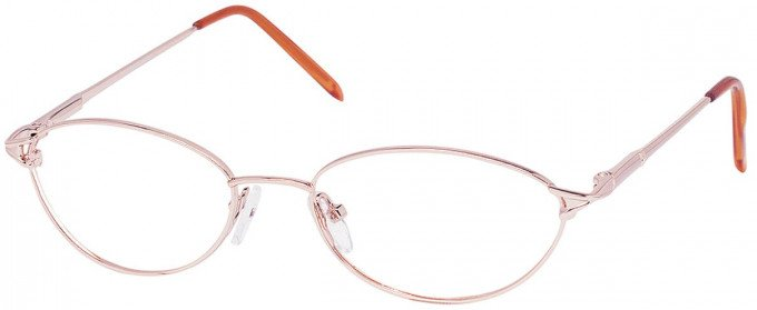 SFE reading glasses in Pink Gold