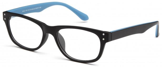 SFE reading glasses in Black/Blue