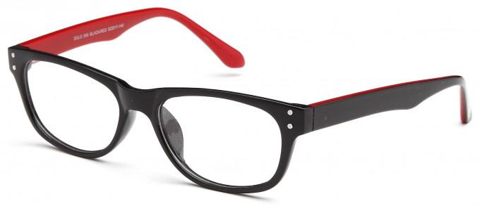 SFE reading glasses in Black/Red