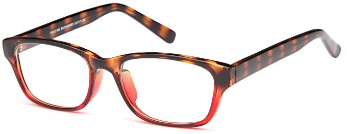 SFE reading glasses in Brown/Red