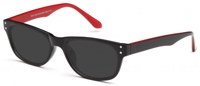 SFE reading sunglasses in Black/Red