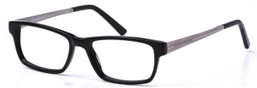 Crosshatch Plastic Ready-Made Reading Glasses in Black