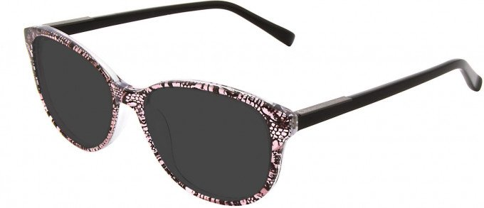 Christian Lacroix CL1040 Sunglasses in Black/Pink
