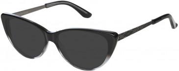 Christian Lacroix CL1043 Sunglasses in Black/Transparent