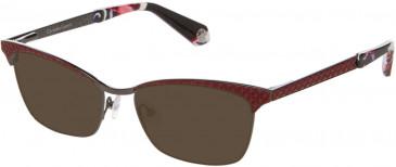 Christian Lacroix CL3041 Sunglasses in Dark Red