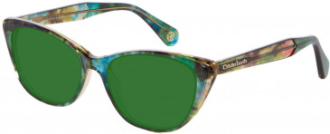 Christian Lacroix CL1056 Sunglasses in Green/Blue