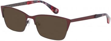 Christian Lacroix CL3044 Sunglasses in Dark Red