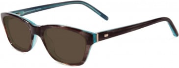 Jones New York JNY J221 Sunglasses in Brown/Blue