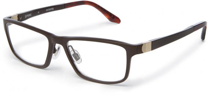Spine SP2001 Glasses in Dark Brown