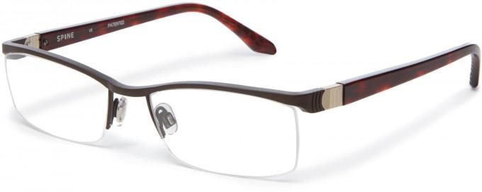 Spine SP2007 Glasses in Dark Brown