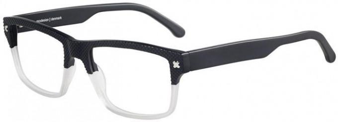 Prodesign Denmark 4700 glasses in Black/White