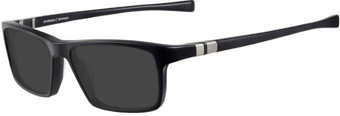 Prodesign Denmark 7633 sunglasses in Black/Light Grey