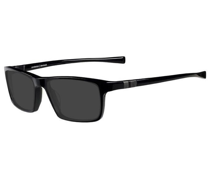 Prodesign Denmark 7633 sunglasses in Black/Dark Grey