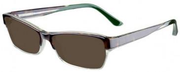 Prodesign Denmark 4663 sunglasses in Brown/Crystal