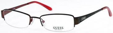 Guess GU2202 Glasses in Brown/Pink