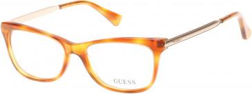 Guess GU2487 Glasses in Blonde Havana