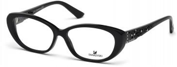 Swarovski SK5083 Glasses in Shiny Black