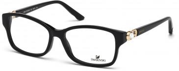 Swarovski SK5087 Glasses in Shiny Black