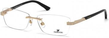 Swarovski SK5089 Glasses in Shiny Rose Gold