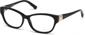 Swarovski SK5096 Glasses in Shiny Black