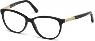 Swarovski SK5118 Glasses in Shiny Black