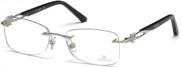 Swarovski SK5125 Glasses in Shiny Palladium