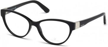 Swarovski SK5129 Glasses in Shiny Black