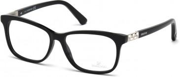 Swarovski SK5132 Glasses in Shiny Black