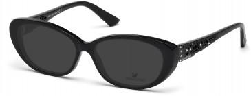 Swarovski SK5083 Sunglasses in Shiny Black