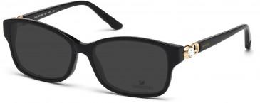 Swarovski SK5087 Sunglasses in Shiny Black