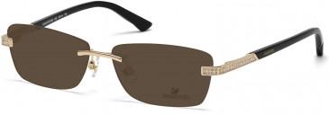 Swarovski SK5089 Sunglasses in Shiny Rose Gold