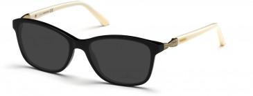 Swarovski SK5121 Sunglasses in Shiny Black