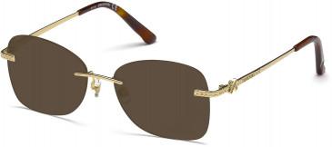 Swarovski SK5124 Sunglasses in Gold
