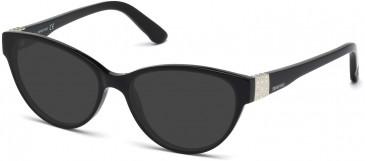 Swarovski SK5129 Sunglasses in Shiny Black