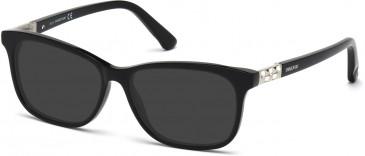 Swarovski SK5132 Sunglasses in Shiny Black